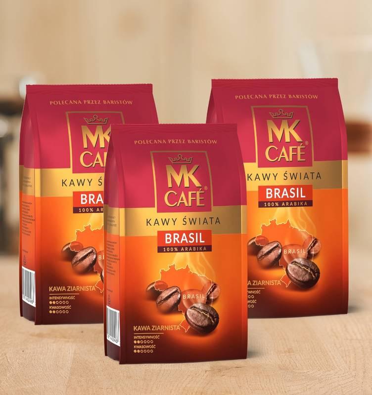 Kawa ziarnista MK Cafe Brazylia 3x1kg 100% Arabica