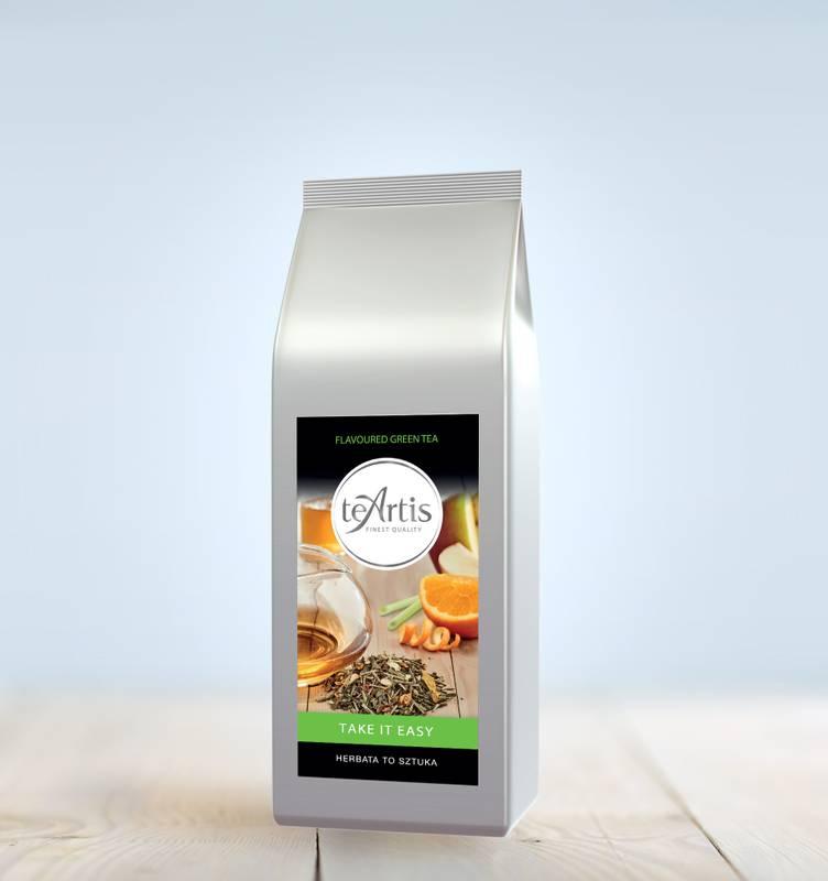 TeArtis zielona herbata liściasta z trawą cytrynową TAKE IT EASY 200g