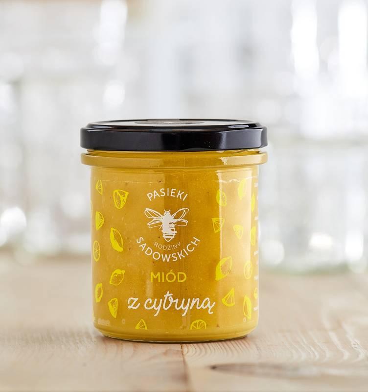 Miód wielokwiatowy z cytryną 450g