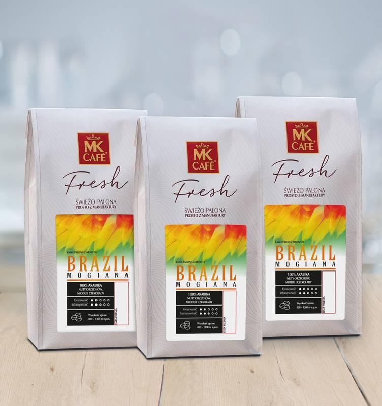 Świeżo palona kawa ziarnista MK Fresh Brazil Mogiana 3x1kg