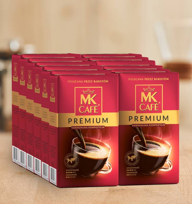 Kawa mielona MK Cafe Premium 12x500g