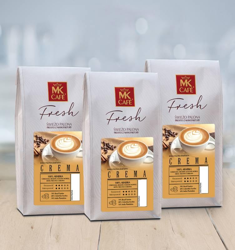Świeżo palona kawa ziarnista MK Fresh Crema 3x1kg